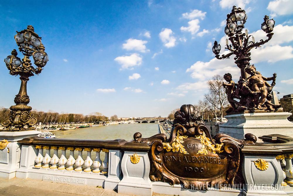 Seine and old bridge in Paris