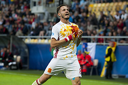June 20, 2017 - Gdynia, Poland - Saul Niguez of Spain celebrates his score during the UEFA European Under-21 Championship Group B match between Portugal and Spain at Gdynia Stadium in Gdynia, Poland on June 20, 2017  (Credit Image: © Andrew Surma/NurPhoto via ZUMA Press)