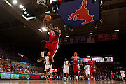 DALLAS, TX - JANUARY 21: Wally Judge #33 of the Rutgers Scarlet Knights drives to the basket against the SMU Mustangs on January 21, 2014 at Moody Coliseum in Dallas, Texas.  (Photo by Cooper Neill/Getty Images) *** Local Caption *** Wally Judge
