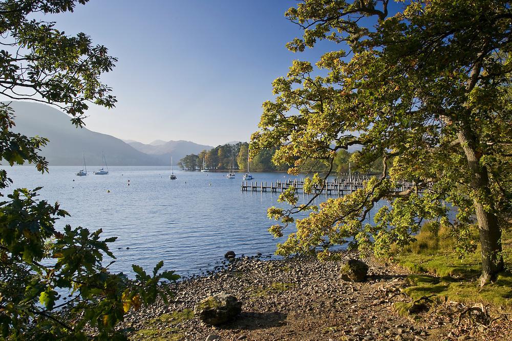 Shoreline of Lake Ullswater, Lake District, England, United Kingdom