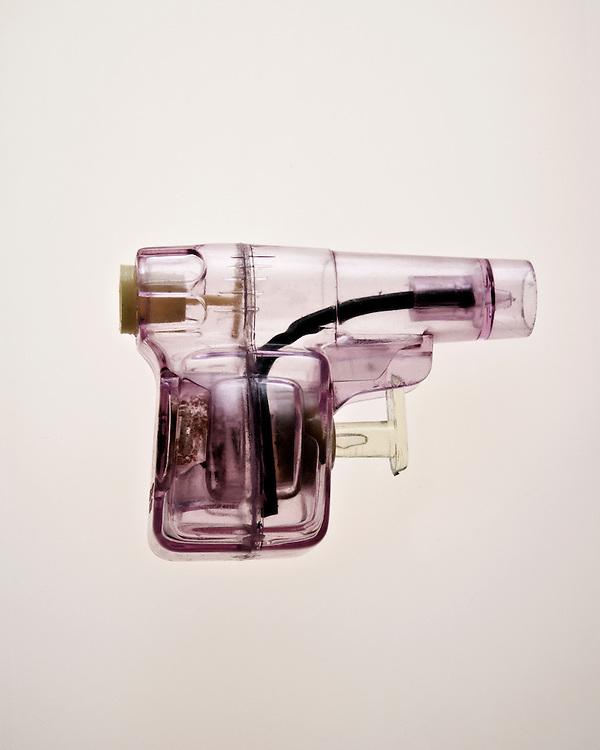 Still life image of a toy gun