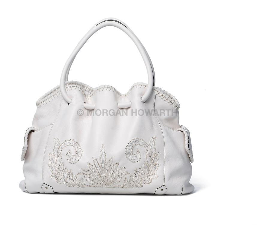 White leather purse