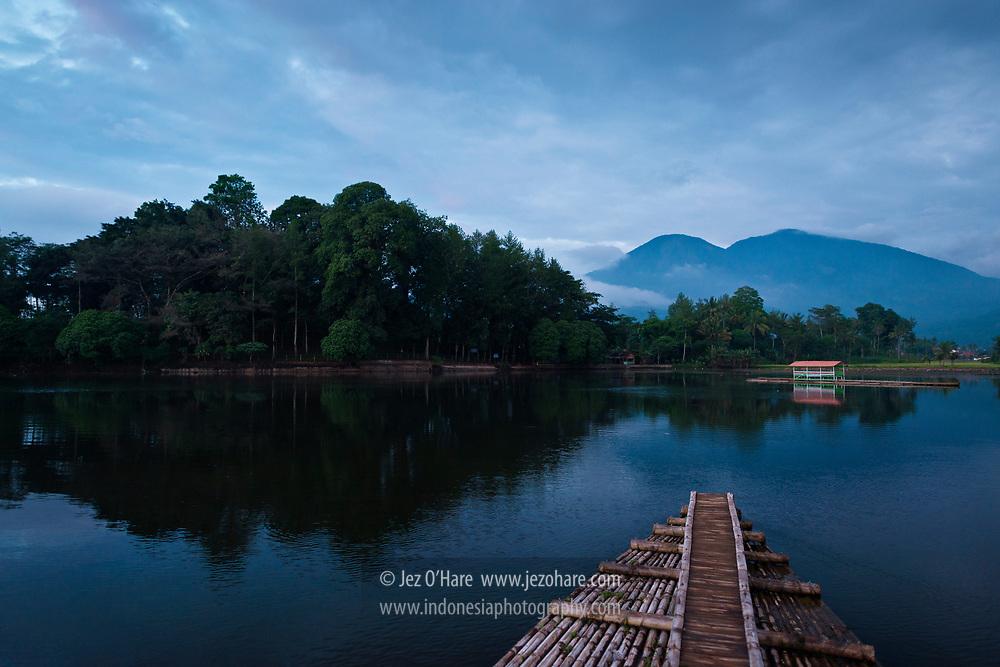 Cangkuang Temple, Leles, Garut, West Java, Indonesia.