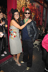 Party host GEORGINA HAMED and JAY KAY at the launch party for the shop 'Lost in Beauty' 117 Regents Park Road, London NW1 on 22nd April 2008.<br /><br />NON EXCLUSIVE - WORLD RIGHTS