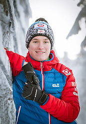 27.11.2014, Nordic Arena, Ruka, FIN, OESV, Nordische Kombinierer, Fotoshooting, im Bild Martin Fritz (AUT) // Martin Fritz of Austria during the Photoshooting of the Ski Austria Nordic Combined Team at the Nordic Arena, Ruka, Finland on 2014/11/27 . EXPA Pictures © 2014, PhotoCredit: EXPA/ JFK