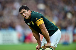 Francois Louw of South Africa looks on - Mandatory byline: Patrick Khachfe/JMP - 07966 386802 - 07/10/2015 - RUGBY UNION - The Stadium, Queen Elizabeth Olympic Park - London, England - South Africa v USA - Rugby World Cup 2015 Pool B.