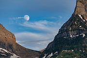 Moon rise over peak