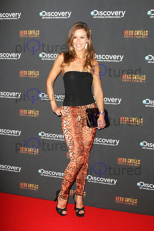 Charlie Webster, Bear Grylls: Escape From Hell - launch party, Battersea Power Station, London UK, September 25, Photo by Richard Goldschmidt