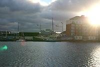 Sunlight lens flare, Charlotte docks, Dublin, Ireland