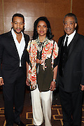 """15 November 2010- New York, NY- John Legend, Phylicia Rashad, and Rev. Al Sharpton at The National Action Network's 1st Annual Triumph Awards honoring """"Our Best"""" in the Arts, Entertainment, & Sports held at Jazz at Lincoln Center on November 15, 2010 in New York City. Photo Credit: Terrence Jennings"""