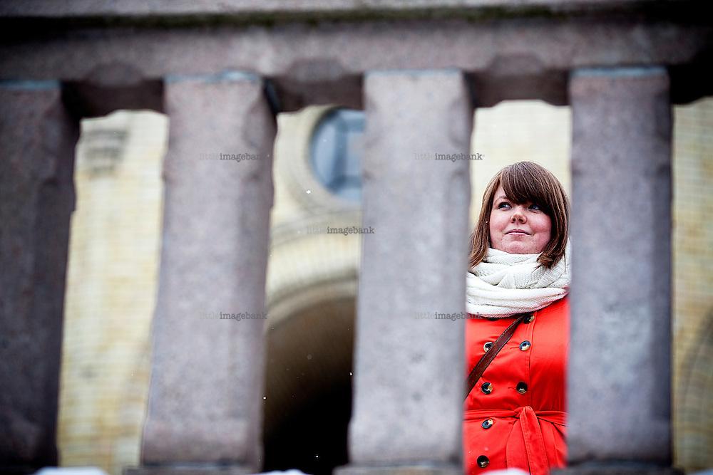 Oslo, Norge, 01.02.2012. SVs Gina Barstad til sak i Klassekampen. Foto: Christopher Olssøn.