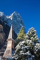 Scenic image of the church in Yosemite Valley. Yosemite National Park.