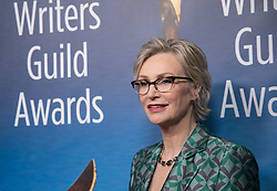 February 17, 2019 - Beverly Hills, California, U.S - Jane Lynch in the red carpet of the 2019 Writers Guild Awards at the Beverly Hilton Hotel on Sunday February 17, 2019 in Beverly Hills, California. JAVIER ROJAS/PI (Credit Image: © Prensa Internacional via ZUMA Wire)