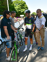 July 4, 2017 - Mondorf Les Bains / Vittel, Luxembourg / France - VITTEL, FRANCE - JULY 4 : Crash of CAVENDISH Mark (GBR) Rider of Team Dimension Data during stage 4 of the 104th edition of the 2017 Tour de France cycling race, a stage of 207.5 kms between Mondorf-Les-Bains and Vittel on July 04, 2017 in Vittel, France, 04/07/2017 (Credit Image: © Panoramic via ZUMA Press)