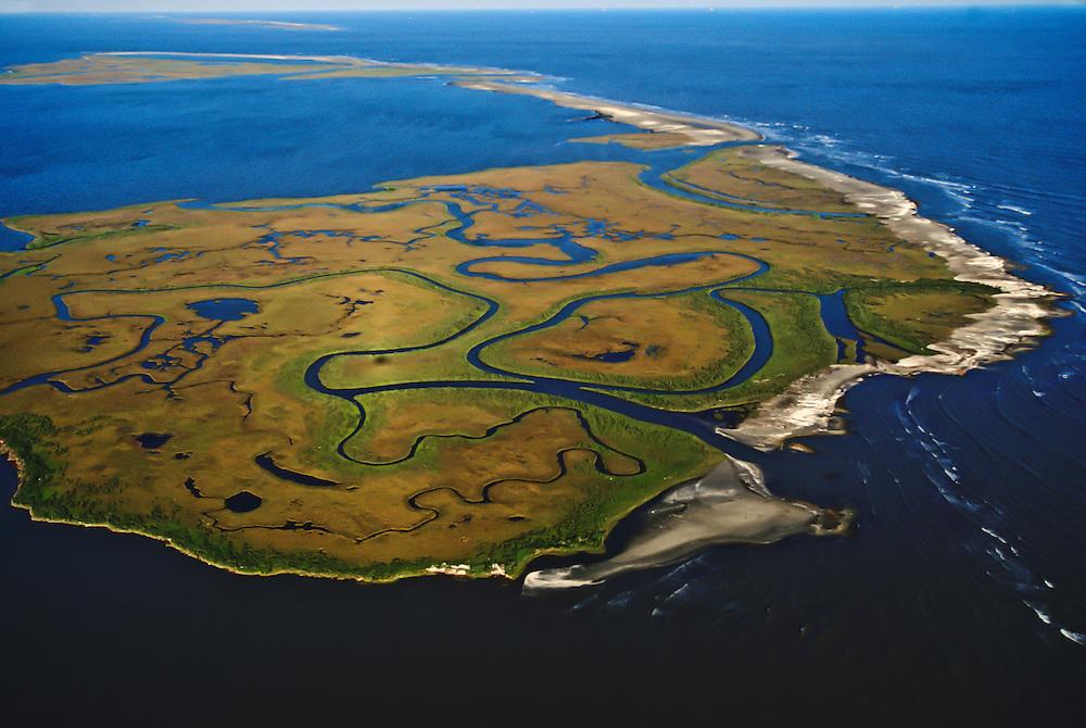 A Barrier Island along the Atlantic Coast.