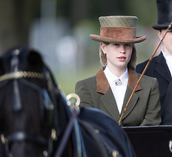 Lady Louise Windsor leads the Champagne Laurent-Perrier Meet of the British Driving Society at the Royal Windsor Horse Show, which is held in the grounds of Windsor Castle in Berkshire.