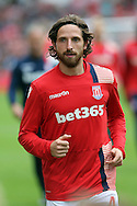 Joe Allen of Stoke City looks on prior to kick off. Premier league match, Stoke City v Tottenham Hotspur at the Bet365 Stadium in Stoke on Trent, Staffs on Saturday 10th September 2016.<br /> pic by Chris Stading, Andrew Orchard sports photography.