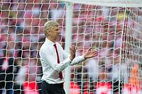 Arsenal manager Arsene Wenger celebrates after the match    <br /> <br /> <br /> Photographer Craig Mercer/CameraSport<br /> <br /> The Emirates FA Cup Final - Arsenal v Chelsea - Saturday 27th May 2017 - Wembley Stadium - London<br />  <br /> World Copyright © 2017 CameraSport. All rights reserved. 43 Linden Ave. Countesthorpe. Leicester. England. LE8 5PG - Tel: +44 (0) 116 277 4147 - admin@camerasport.com - www.camerasport.com