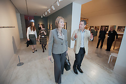 """© London News Pictures. 25/6/2013. Margate, Kent. Harriet Harman MP and John Kampfner Chairman of Turner Contemporary. Today Harriet Harman MP, Labour's Deputy Leader and Shadow Secretary of State for Culture, Media and Sport, visits Margate where she was given a tour of Turner Contemporary before meeting staff and local businesses in the """"Curious Margate"""" project. Picture credit Manu Palomeque/LNP"""
