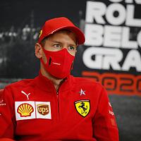 27.08.2020, Circuit de Spa-Francorchamps, Spa-Franchorchamps, FORMULA 1 ROLEX BELGIAN GRAND PRIX 2020<br />  , im Bild<br /> Sebastian Vettel (GER#5), Scuderia Ferrari<br /> <br /> Foto © nordphoto / Bratic