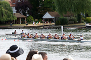 Henley. UNITED KINGDOM. Princess Royal, Princess Anne visit to 2010 Henley Royal Regatta, Rowing acton as crews approach and row through the Stewards Enclosure,  Friday 02/07/2010.[Mandatory Credit: Patrick White/Intersport Images] . HRR.