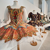 "MILAN, ITALY - JULY 13: Costumes from ""La Bella Addormentata"" season 1992/3 by Franca Squarciapino  on display at Palazzo Morando on July 13, 2010 in Milan, Italy. The exhibition ""Il Costume veste la Musica"" open until September 12th features more than 50 costumes and accessories chosen among the most significant pieces made for opera and ballet by the atelier of La Scala"