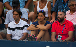 August 28, 2018 - Team Suarez Navarro during the first round of the 2018 US Open Grand Slam tennis tournament. New York, USA. August 28th 2018. (Credit Image: © AFP7 via ZUMA Wire)