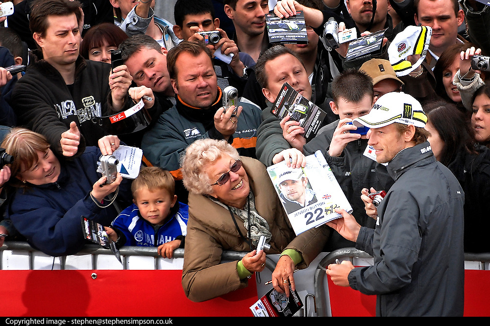 UNITED KINGDOM - GREENHITHE Jenson Button meets fans at The Blue Water Shopping Centre, after winning the Formula One World Championship. 20/10/2009 STEPHEN SIMPSON