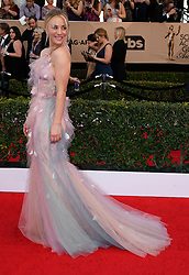 January 29, 2017 - Los Angeles, California, United States - Kaley Cuoco on the red carpet at 23rd Annual Screen Actors Guild Awards  at The Shrine Expo Hall in Los Angeles on Sunday, January 29, 2017. (Credit Image: © John Mccoy/Los Angeles Daily News via ZUMA Wire)