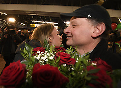 January 27, 2018 - Bruxelles, BELGIQUE - BRUSSELS, BELGIUM - JANUARY 27:  Belgian tennis player Elise Mertens and her father Guido (semi finalist at the Australia Open) pictured during her come back in Brussels Airport Belgium on january 27, 2018 in Brussels, Belgium, 27/01/2018( (Credit Image: © Panoramic via ZUMA Press)