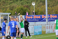 A few fans watch the match during the Betfred Scottish League Cup match between Cove Rangers and Hibernian at Balmoral Stadium, Aberdeen, Scotland on 10 October 2020.