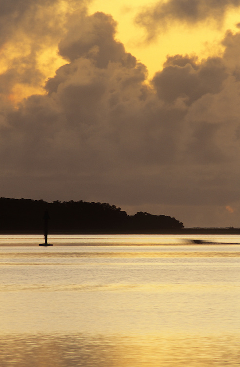 Sunrise over lagoon in Colonia, Yap, Wa`ab, Waqab, Federated States of Micronesia, islands in the Caroline Islands