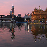 Dawn paints the sky in pastel hues at the Golden Temple in Amritsar, India.<br /> Photo by Shmuel Thaler <br /> shmuel_thaler@yahoo.com www.shmuelthaler.com
