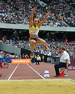 Jessica Ennis-Hill during the Sainsbury's Anniversary Games at the Queen Elizabeth II Olympic Park, London, United Kingdom on 25 July 2015. Photo by Mark Davies.