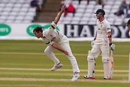 Lewis Gregory (Somerset County Cricket Club) in action during the LV County Championship Div 1 match between Durham County Cricket Club and Somerset County Cricket Club at the Emirates Durham ICG Ground, Chester-le-Street, United Kingdom on 8 June 2015. Photo by George Ledger.