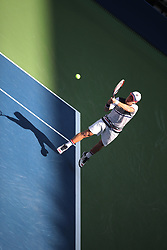 September 5, 2017 - New York City, New York, United States - Diego Schwartsman of Argentine competes against Spanish Pablo Carrano Busta (not seen)  during their 2017 US Open Men's Singles Round 4 match at the USTA Billie Jean King National Tennis Center in New York on September 5, 2017. (Credit Image: © Foto Olimpik/NurPhoto via ZUMA Press)