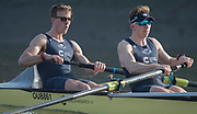 Putney, London,  Tideway Week, Championship Course. River Thames,  Oxford UBC.Left,  Bow: William Warr , 2: Matthew O'Leary, <br /> Tuesday  28/03/2017<br /> [Mandatory Credit; Credit: Peter Spurrier/Intersport Images.com ]