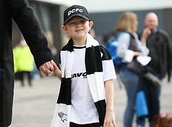 Derby County's supporters outside the stadium before the match at Pride Park Stadium