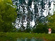 rain on windshield stop sign