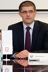 Matjaz Rakovec, President of HZS, at Press Conference of HZS before World Championship 2011, Slovakia, on March 30, 2011 at Hala Tivoli, Ljubljana, Slovenia. (Photo By Matic Klansek Velej / Sportida.com)