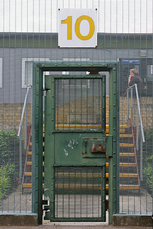 External security gate at HMP Downview.