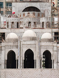 construction of new mosque in residential area of marina district of Dubai United Arab Emiraes