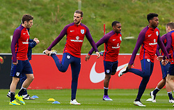 England's Jordan Henderson (Liverpool) warms up - Mandatory byline: Matt McNulty/JMP - 22/03/2016 - FOOTBALL - St George's Park - Burton Upon Trent, England - Germany v England - International Friendly - England Training and Press Conference