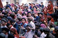 Chine. Province du Sinkiang (Xinjiang). Kashgar (Kashi). Ecole dans la vieille ville. Population Ouigour. // China. Sinkiang Province (Xinjiang).  Kashgar (Kashi). Old city school. Ouigour population.