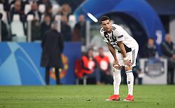Juventus' Cristiano Ronaldo during the game