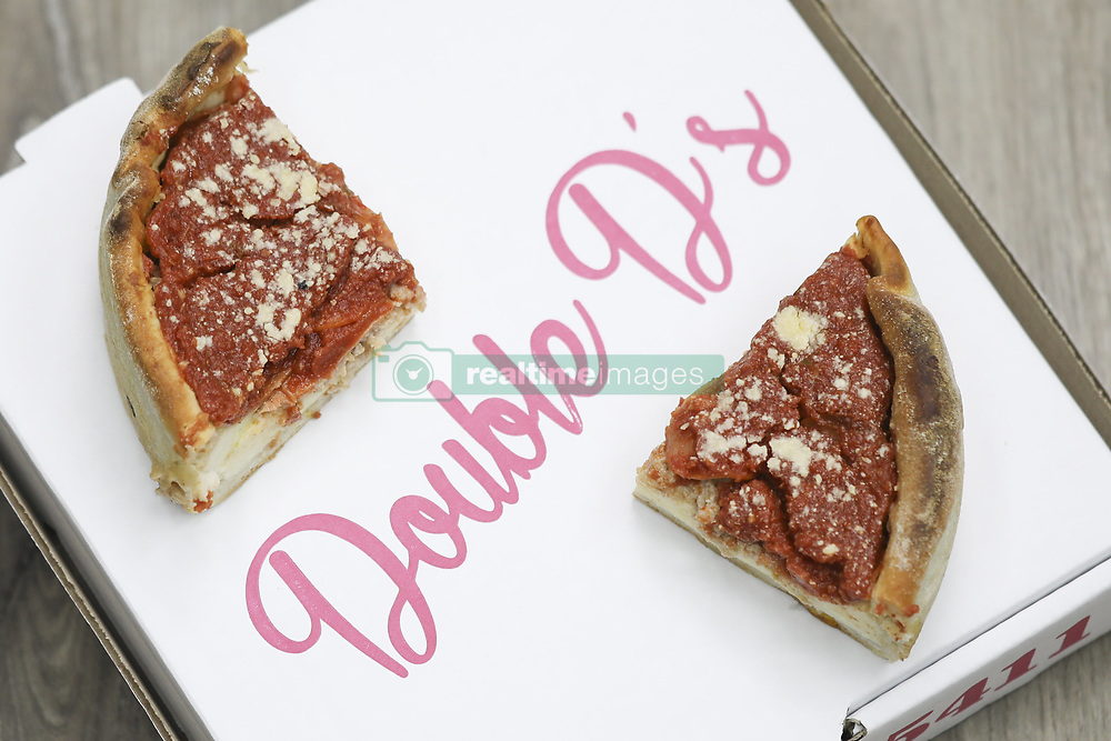 June 5, 2017 - Toronto, ON, Canada - TORONTO, ON - June 5: Double D's restaurant has received tons of buzz for its deep-dish, sauce-filled, Chicago-style pizza. Toronto Star reader Marisa wants to know whether this style of pizza is any healthier than a traditional slice. The Dish finds out. June 5, 2017. Randy Risling/Toronto Star (Credit Image: © Randy Risling/The Toronto Star via ZUMA Wire)