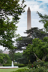 May 4, 2017 - Washington, DC, United States - A view of The Washington Monument from the Rose Garden of the White House, On Thursday, May 4, 2017. (Credit Image: © Cheriss May/NurPhoto via ZUMA Press)