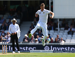 July 27, 2017 - London, United Kingdom - Chris Morris of South Africa celebrates the wicket of England's Tom Westley caught by Faf du Plessis of South Africa .during the International Test Match Series Day One match between England and South Africa at  The Kia Oval Ground in London on July 27, 2017  (Credit Image: © Kieran Galvin/NurPhoto via ZUMA Press)
