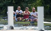 Henley-on-Thames. United Kingdom.  <br /> Stewards Challenge Cup. Leander Club, Bow. M ROSSITER, Mo SBIHI, Matt TARRANT and Will SATCH.<br /> <br /> 2017 Henley Royal Regatta, Henley Reach, River Thames. <br /> <br /> 15:50:23  Saturday  01/07/2017   <br /> <br /> [Mandatory Credit. Peter SPURRIER/Intersport Images.
