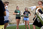 The Oregon Marching Band competes in Sun Prairie, Wisconsin on July 4, 2009.